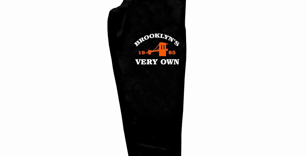 Brooklyn's Very Own Joggers (Black/Orange)
