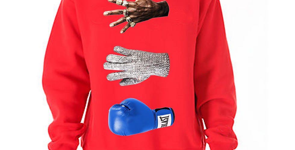 Victory crew neck sweater (red)