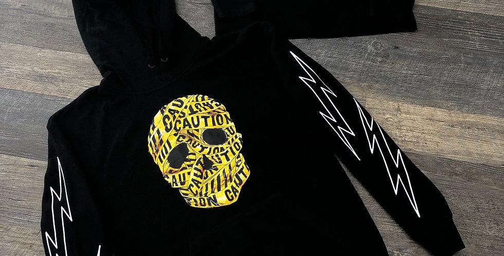 Caution hoodie (black)