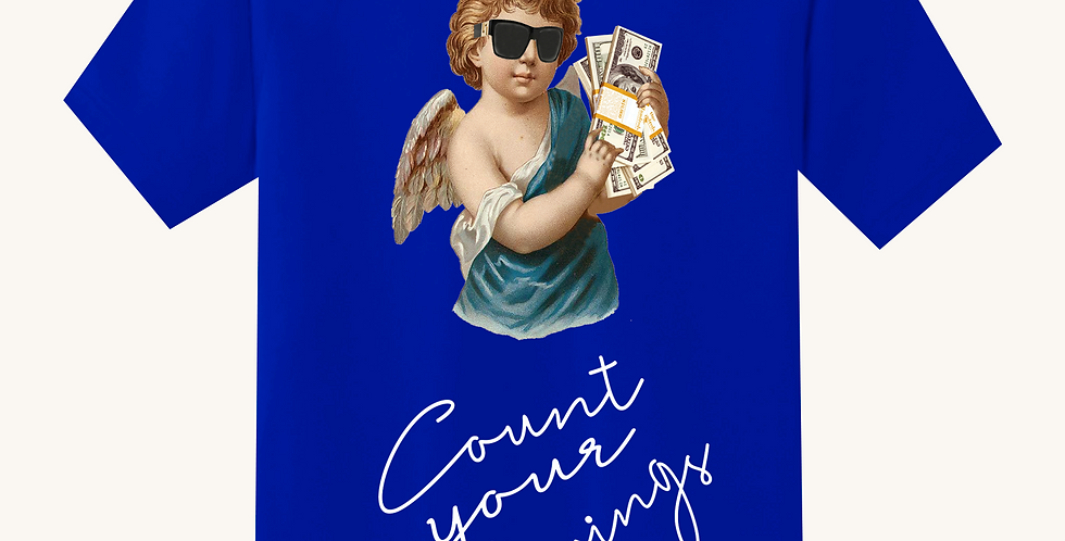 Count Your Blessings T-shirt (Blue)