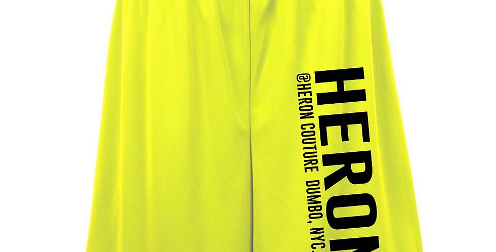 "Heron ""Info"" Shorts (neon green)"
