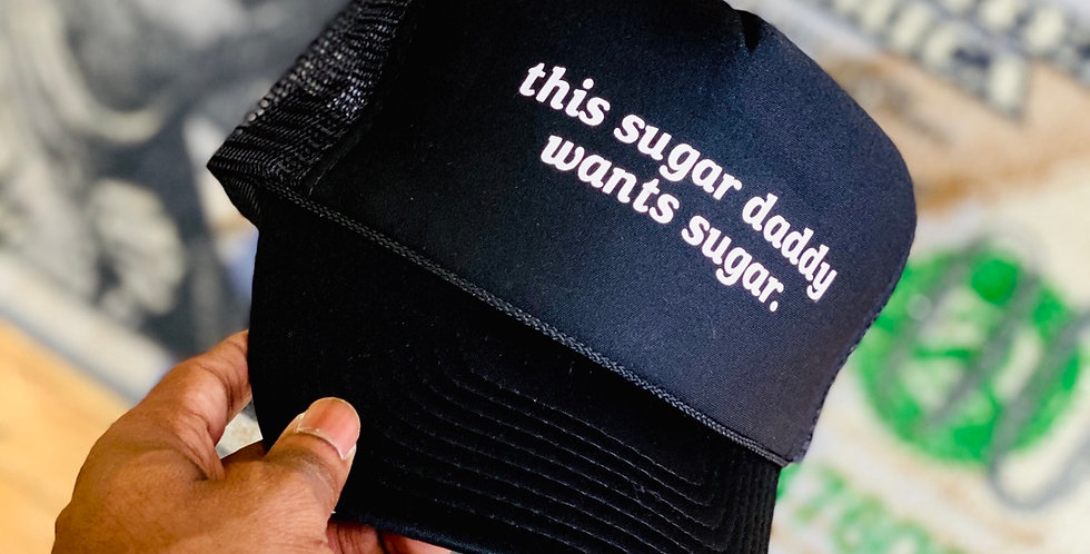 Sugar Daddy Trucker Hat (Black)