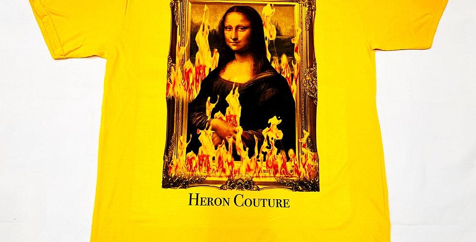 Vandalized Mona Lisa (Yellow)