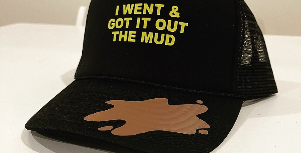 Out The Mud Trucker Hat (Black)