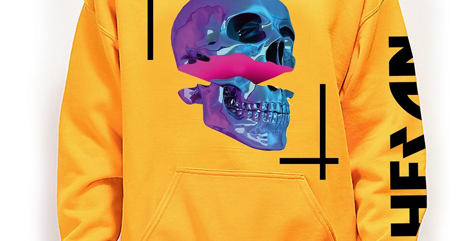Pop skull hoodie (yellow)