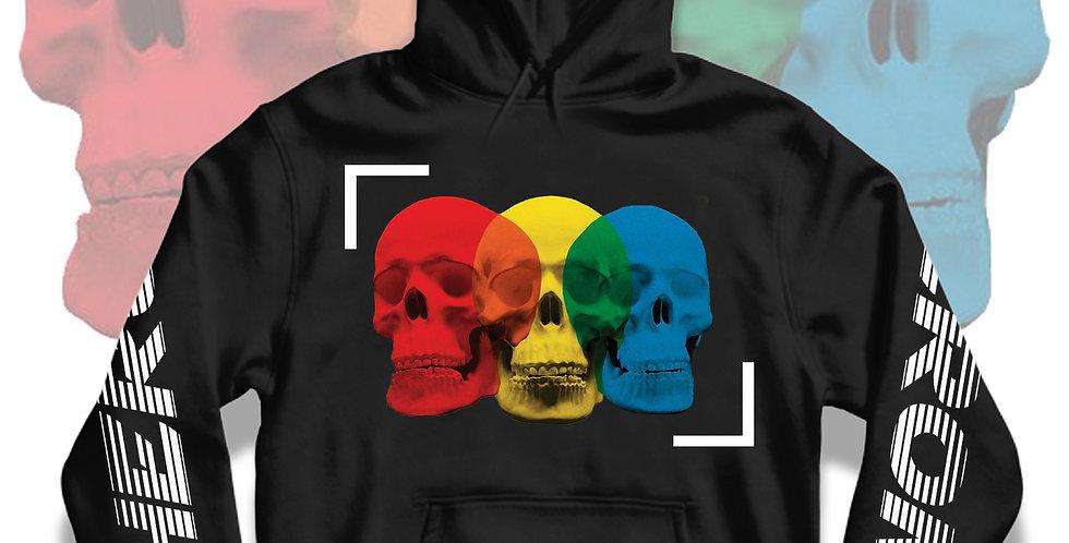 Confused Skull Hoodie (Black)