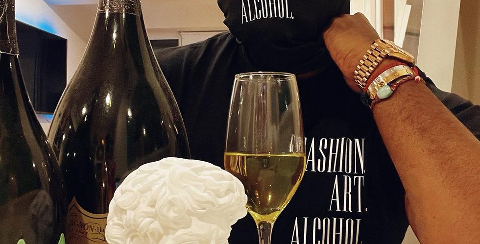 Fashion. Art. Alcohol. Mask (Black)