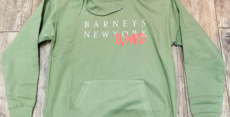 Barneys new slaves hoodie (army green)