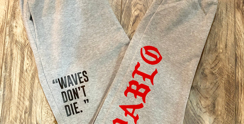 "Waves don't die ""joggers"""