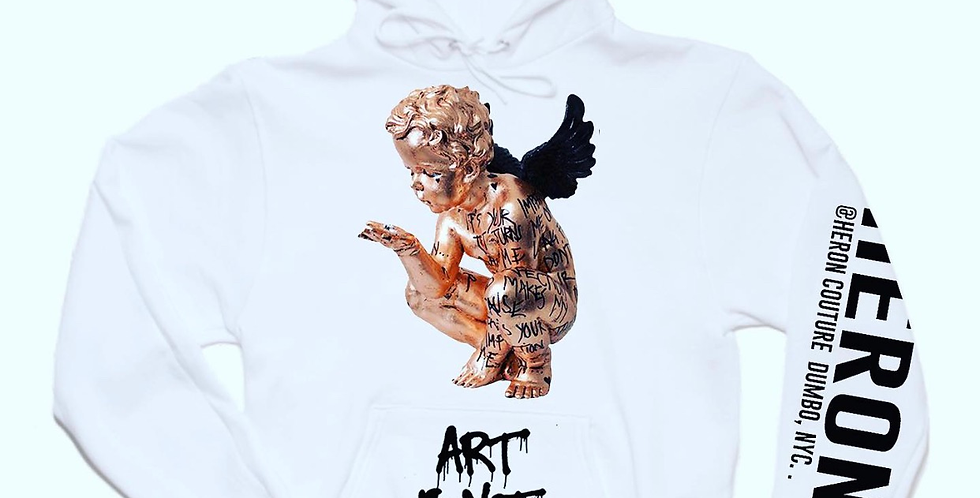 """Art Is Not A Crime """"Angel"""" Hoodie (White)"""