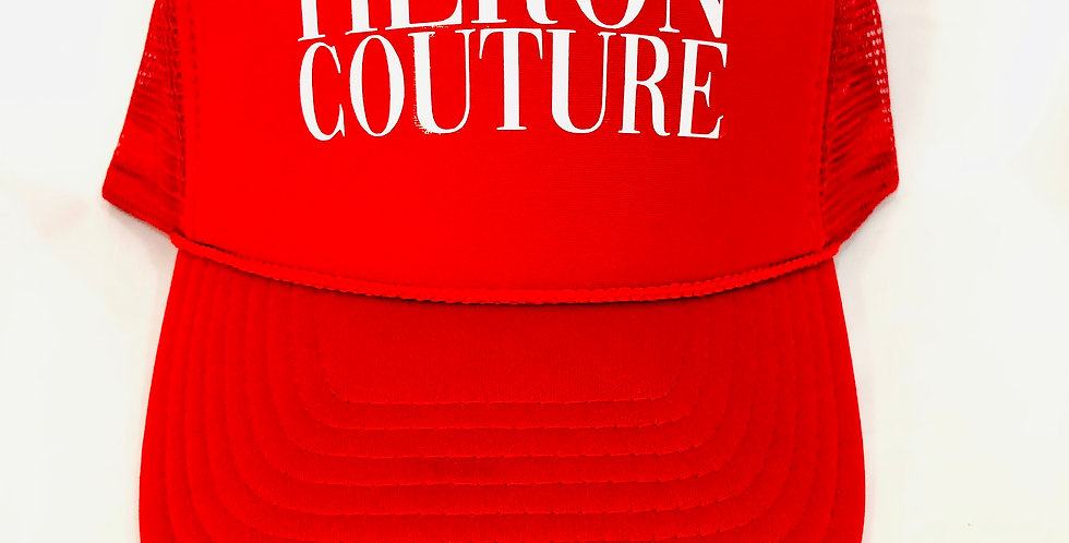 "Heron Couture ""signature"" Trucker hat (red)"