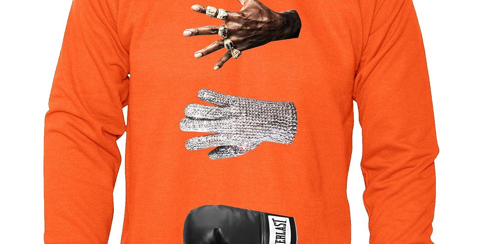 Victory Crew Neck Sweater (Orange)