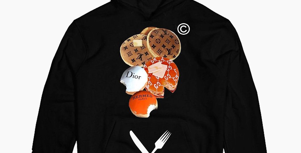 Luxury Breakfast Hoodie (Black)