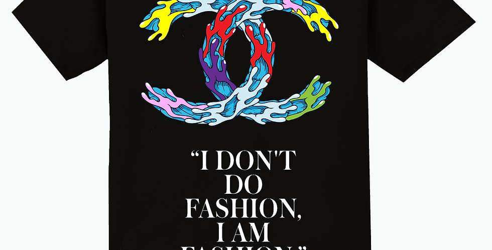 """""""I am fashion"""" T-shirt (black)"""
