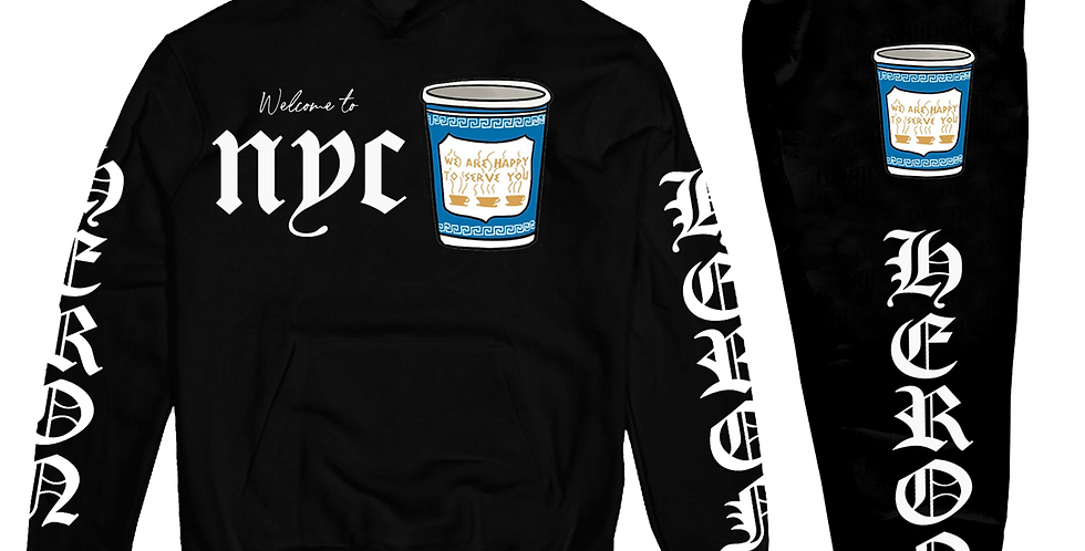 Welcome To NY Hoodie (Black)