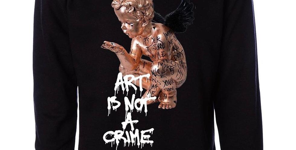 "Art Is Not A Crime ""Angel"" Crew neck (Black)"
