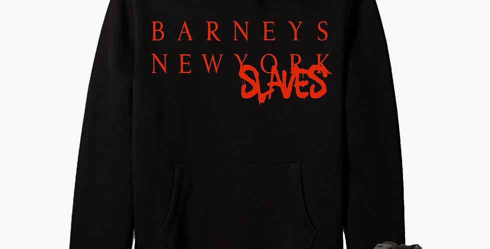 Barneys New Slaves hoodie (Black/Red)