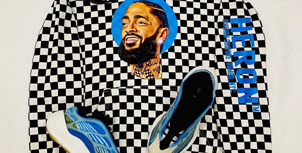 West Coast King Hoodie ( Blue details)