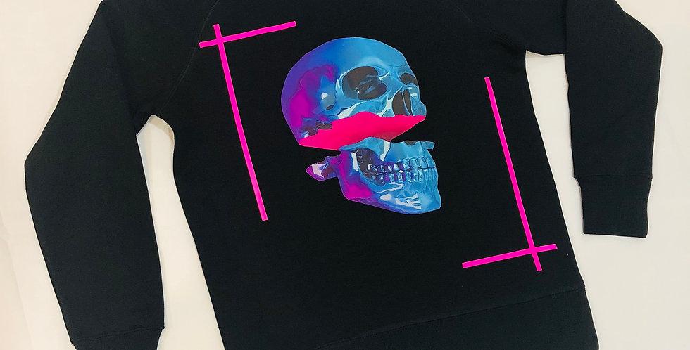 Pop skull crew neck sweater