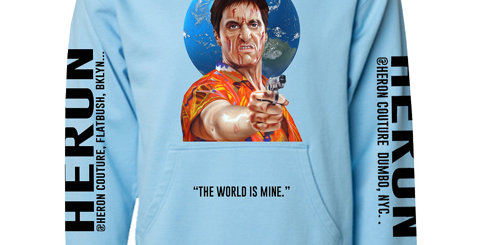 The world is mine hoodie (Baby Blue)