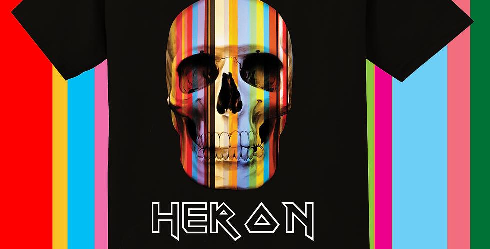 Rainbow skull tshirt (black)