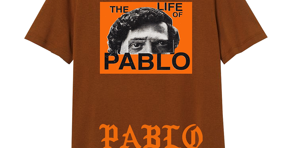 "Pablo ""Wanted"" T-shirt (Dark brown)"