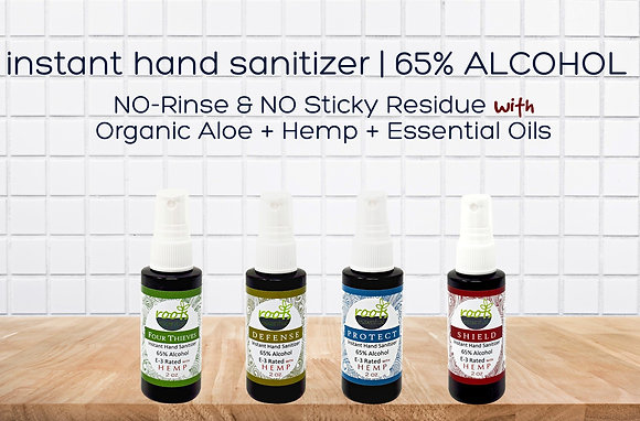 4 PACK Instant Hand Sanitizers