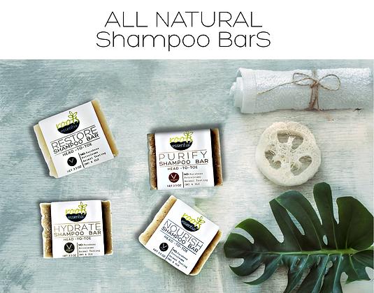 4 PACK Shampoo Bars - All Natural (4) 3.5 oz
