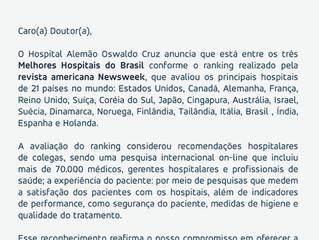 Melhores hospitais do mundo 2020!