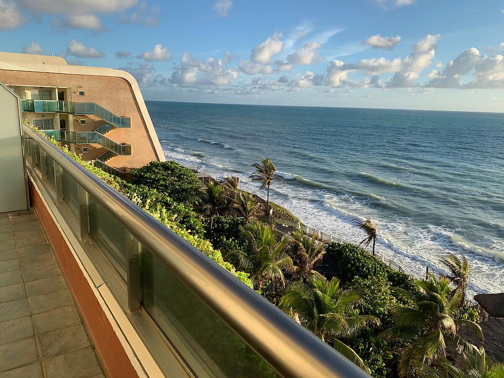 Bela vista do mar de Natal/RN a partir do quarto do hotel. Uma verdadeira pintura!
