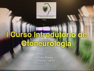 I Curso introdutório de Otoneurologia