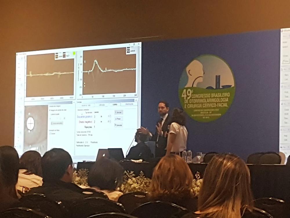 Dr Márcio Salmito - Mini-curso de vHIT (video-head impulse test). Oportunidade de compartilhar com os colegas a utilidade deste exame que vem conquistando grande confiança dos médicos nos últimos anos para auxílio no diagnóstico das doenças do labirinto.