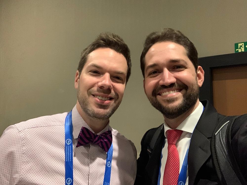Dr Márcio Salmito com o convidado internacional da Otoneurologia, Dr Daniel Gold, neurologista da Univ de Johns Hopkins durante o 49º Congresso Brasileiro de Otorrino