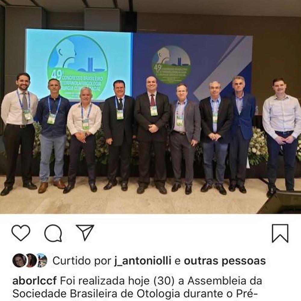 Posse da nova chapa da Sociedade Brasileira de Otologia (SBO) - Dr Márcio Salmito será o vice-presidente Sudeste da Sociedade.