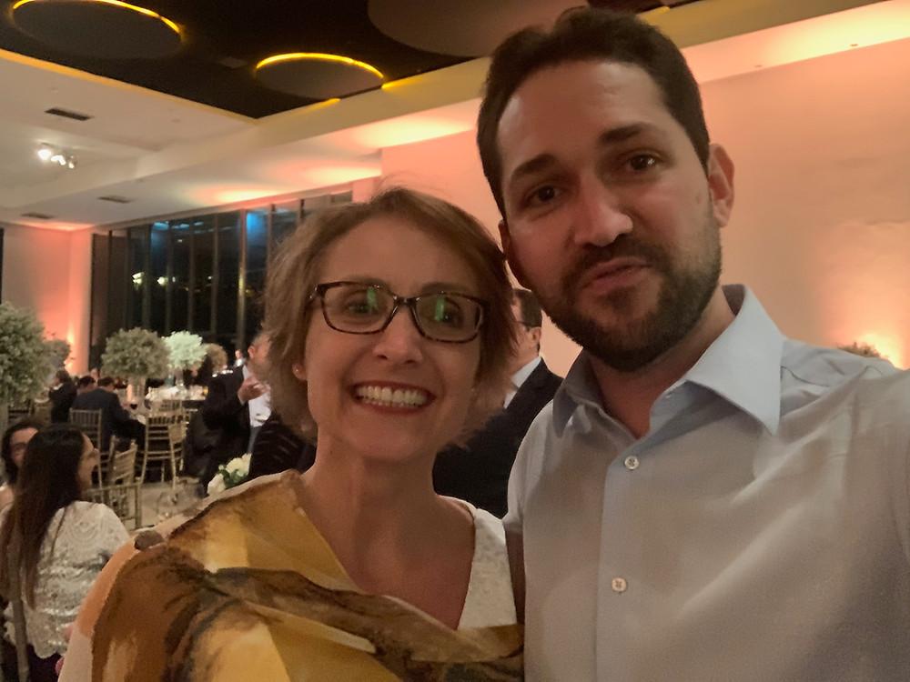 Dra Tanit Ganz Sanches e Dr Márcio Salmito no 49º Congresso Brasileiro de Otorrino