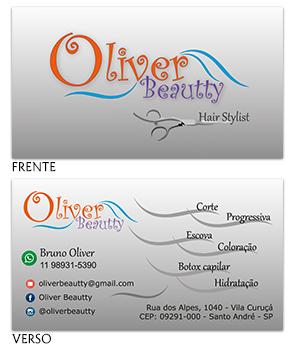 Cartão visita Oliver Beautty