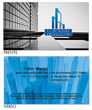 Cartão visita F.L de Souza