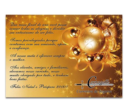 Cartão de Natal Cantagalli