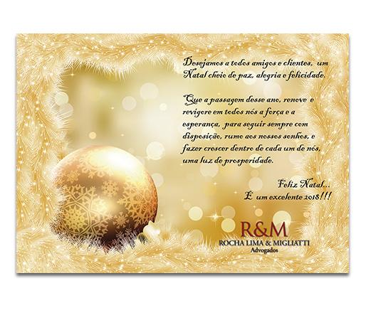 Cartão natal Rocha Lima e Migliatti
