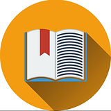 flat-design-icon-of-open-book-with-bookm