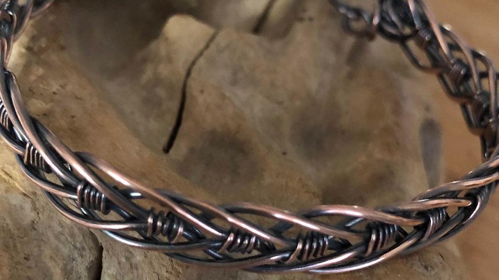 Unisex Braided Copper Bracelet