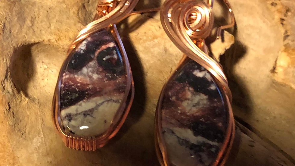 Indian Blanket Jasper Earrings