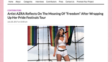 "Artist AZRA Reflects On The Meaning Of ""Freedom"" After Wrapping Up Her Pride Festivals Tour"