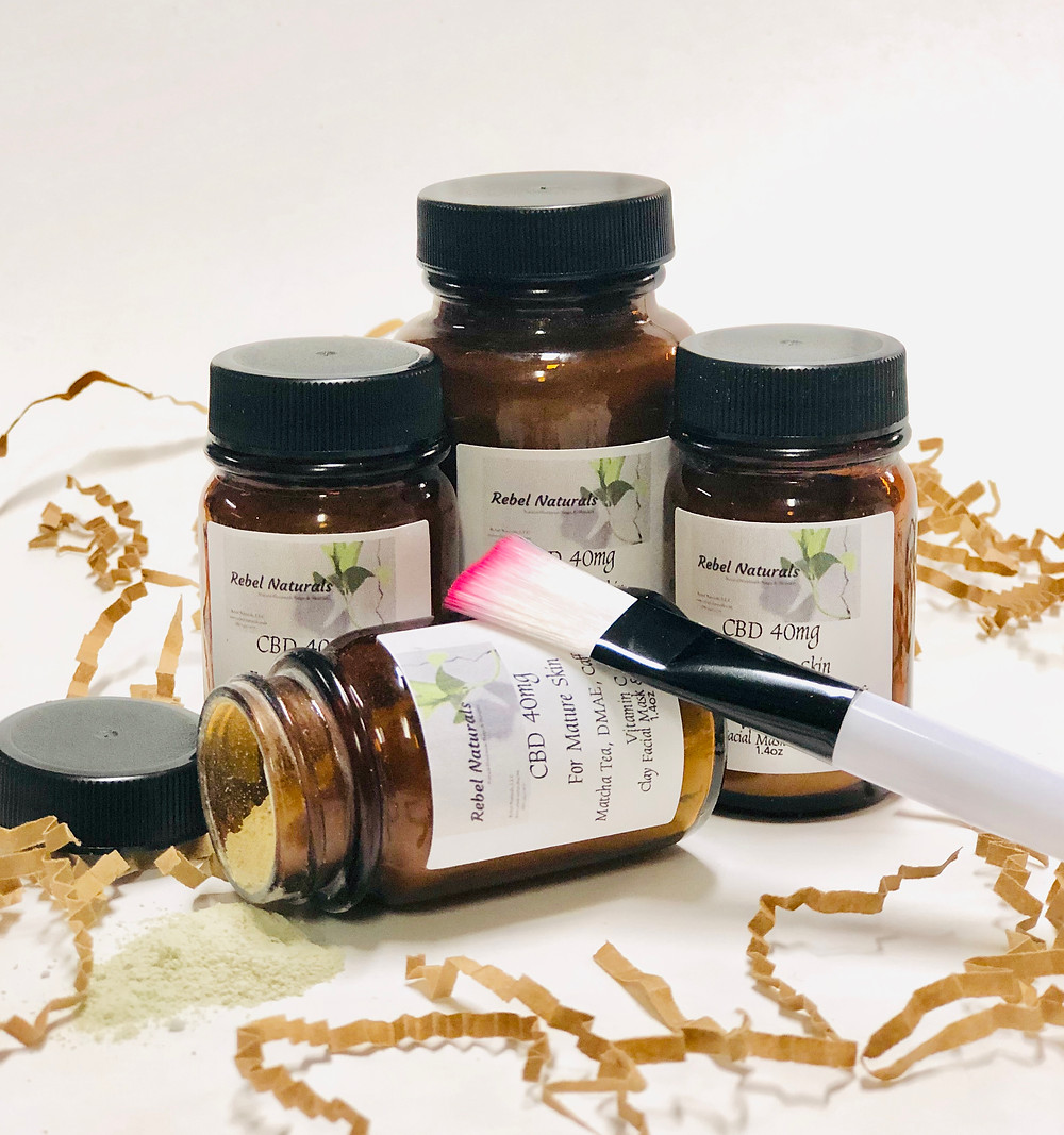 We make CBD facial mask for dry, maturing, acne or problematic skin
