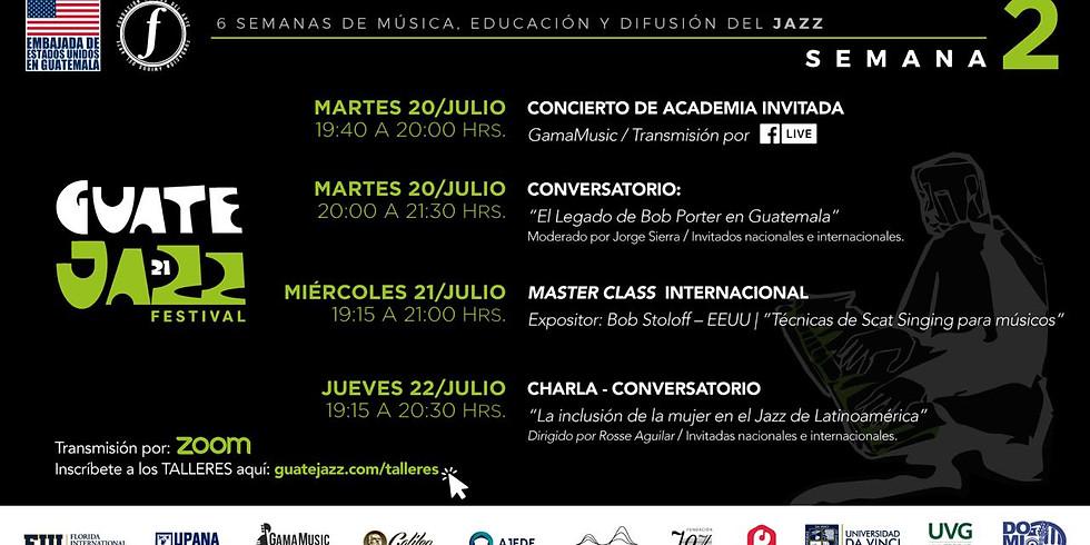 Guatejazz conversatorio con Rosse Aguilar
