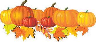 pumpkins and leaves