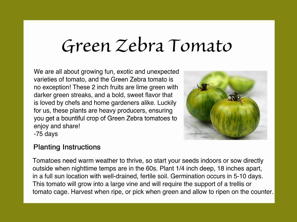 Green Zebra Tomato - 25 Seeds