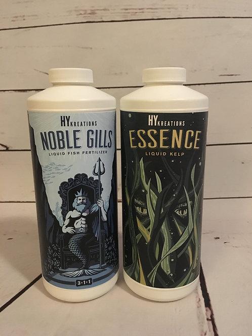 Foliar Feed Package - Noble Gills 32oz Bottle + Essence 32oz Bottle