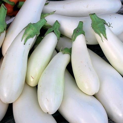 Casper White Eggplant - 30 Seeds
