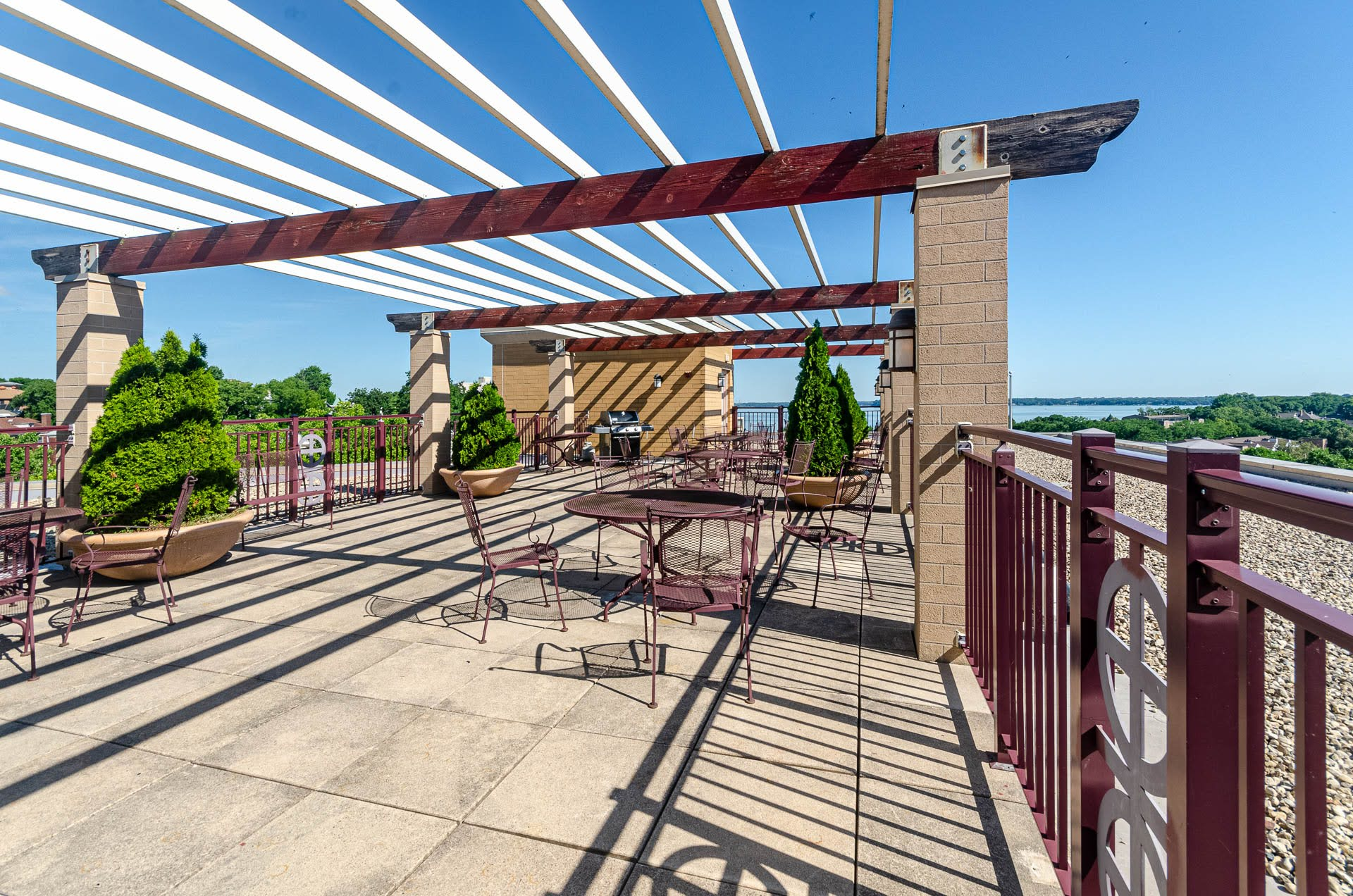 Penthouse Patio with Grill and Tables